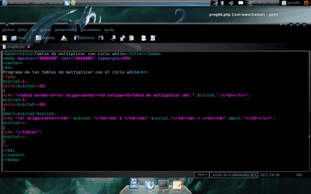 codigo en php quice85